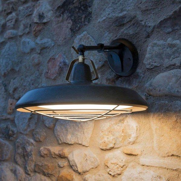 Rustikale LED-Außenwandleuchte Plec, altbraun