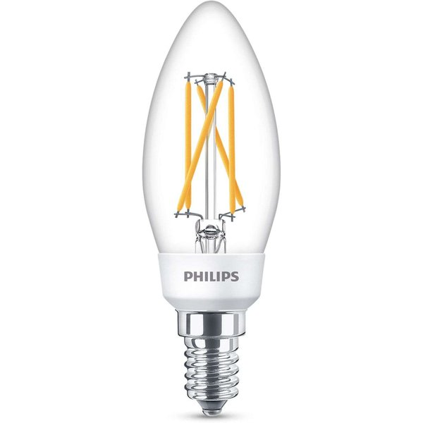 Philips SceneSwitch E14 bougie LED 4,3 W filament