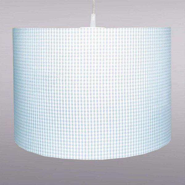 Pretty light blue Vichy-checked hanging light