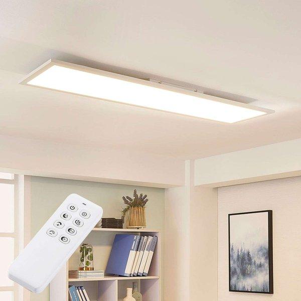 Weiße LED-Deckenleuchte Lysander, dimmbar