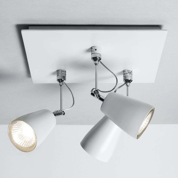 Polar Ceiling Spotlight Square-Shaped Three Bulbs