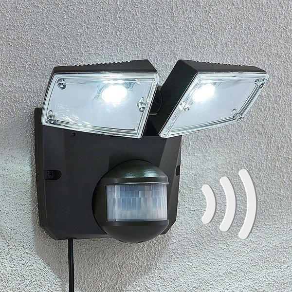 Spot solaire LED Ignaz, 2lampes, gris foncé