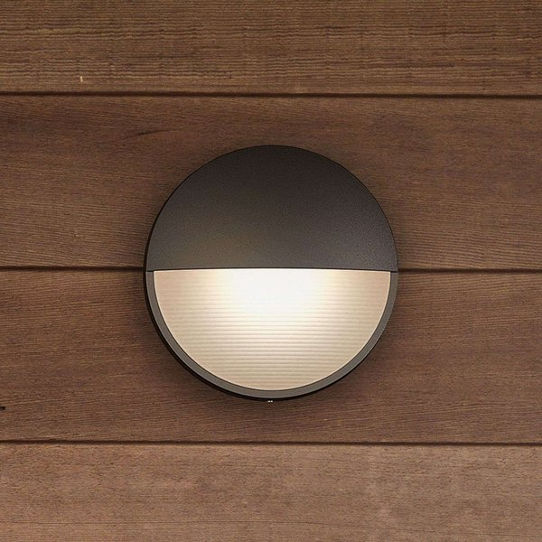 Capricorn anthracite-coloured LED wall light, IP44