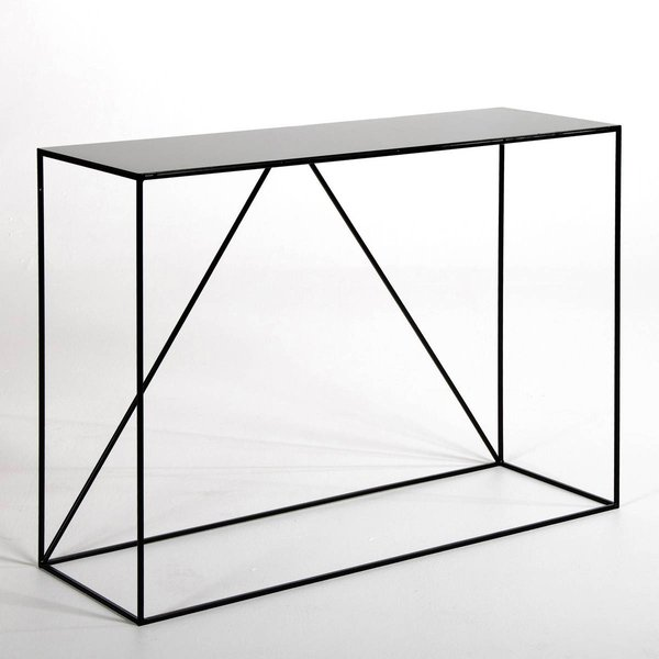 6. Romy Metal Console Table, grey;black: £299, La Redoute