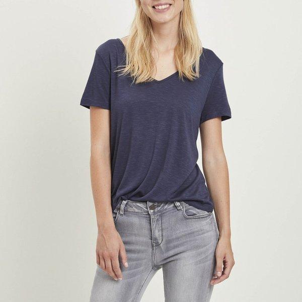 Vila Vinoel V-Neck - T-shirt pour Femme - Blanc