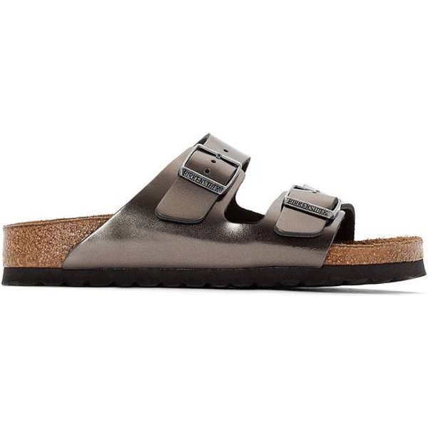 Birkenstock Arizona Naturleder metallic anthracite