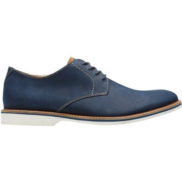 Clarks Komfort Schnürer blau Atticus Lace 40,5