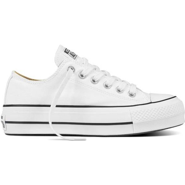 Chuck Taylor All Star Lift Canvas Low Top White, Black