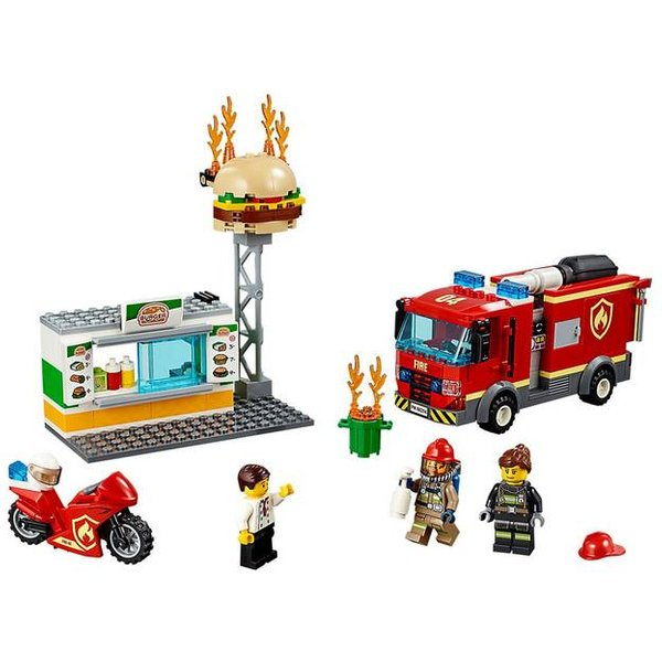L'intervention des pompiers au restaurant de hamburgers