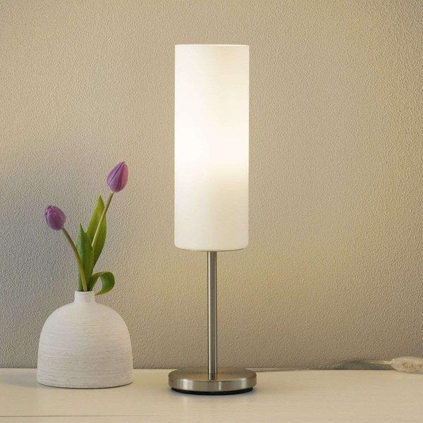 Lampe de table TROY 3 1 ampoule nickel satiné