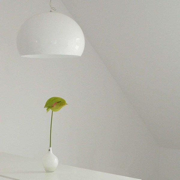 Kartell FL/Y - LED-Pendellampe, weiß glänzend (9030/03)