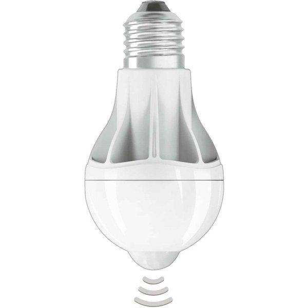 Ampoule LED E27 9W, blanc chaud, capteur mouvement