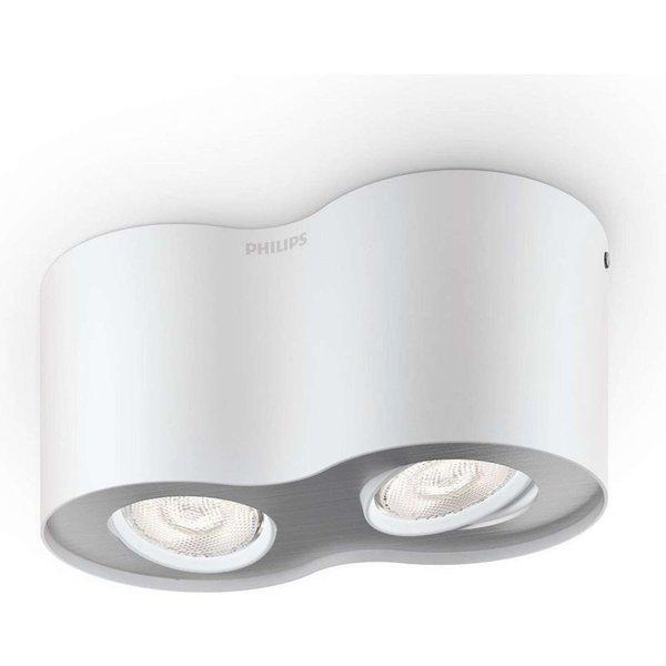 Two-bulb Phase LED spotlight in white (533023116)