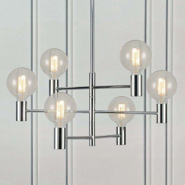 Chrome-plated Capital hanging lamp, six-bulb