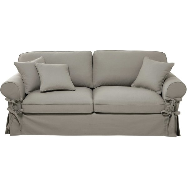 24. 3/4 seater cotton sofa in light grey: £577.5, Maisons du Monde