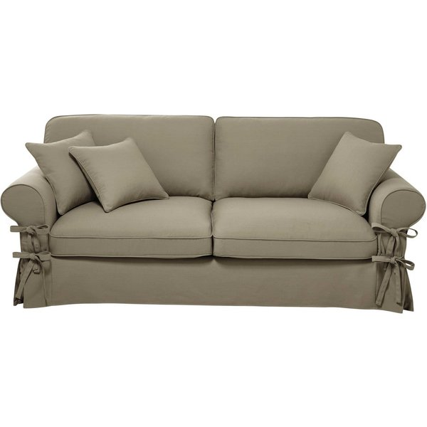 22. 3/4 seater cotton sofa in putty: £577.5, Maisons du Monde