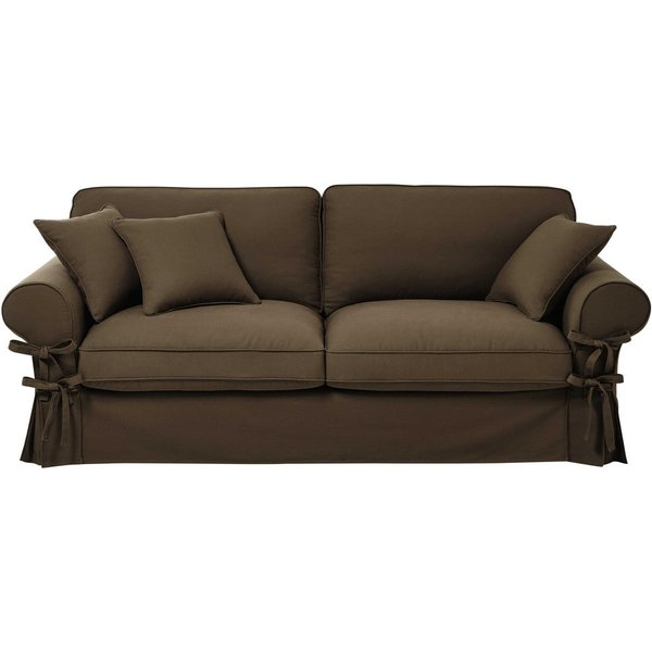 23. 3/4 seater cotton sofa in taupe: £577.5, Maisons du Monde