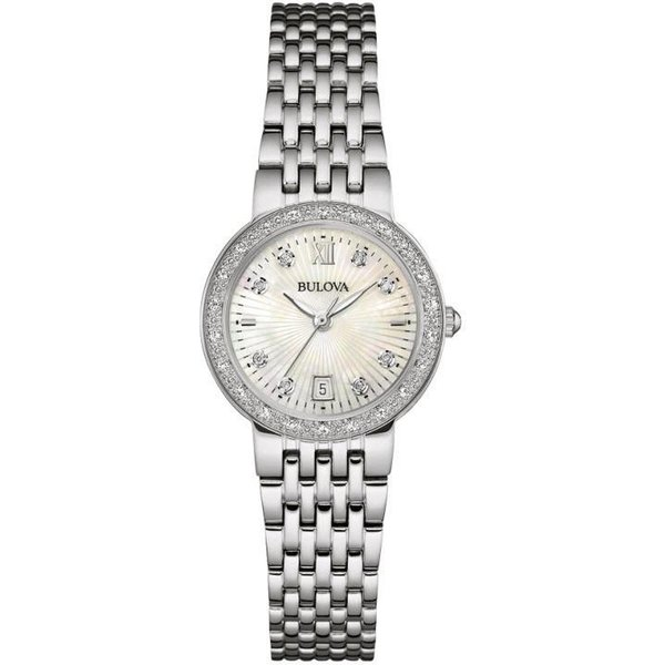 Ladies Bulova Diamond Gallery Watch (96W203)