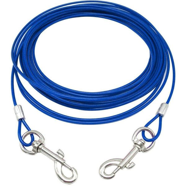 Bunty Tie Out Cable Blue/Large - 20ft/6m