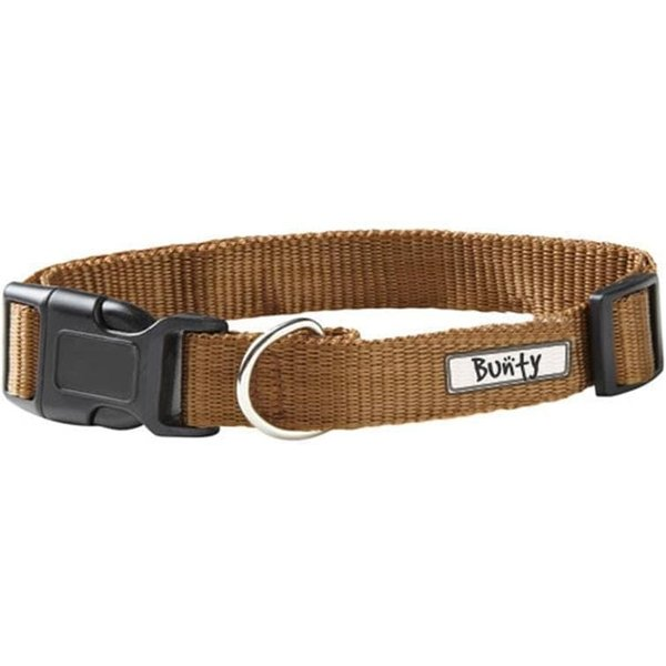 Adjustable LED Flashing Dog Collar with Buckle Brown/Medium