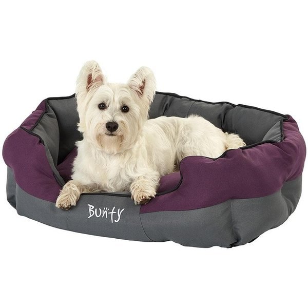 Bunty Anchor Waterproof Dog Bed Purple/Large