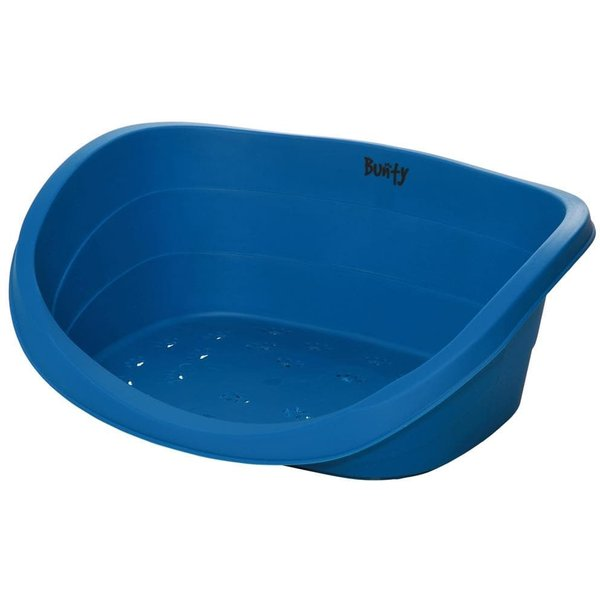 Armadillo Indestructible Plastic Dog Bed Blue/Small