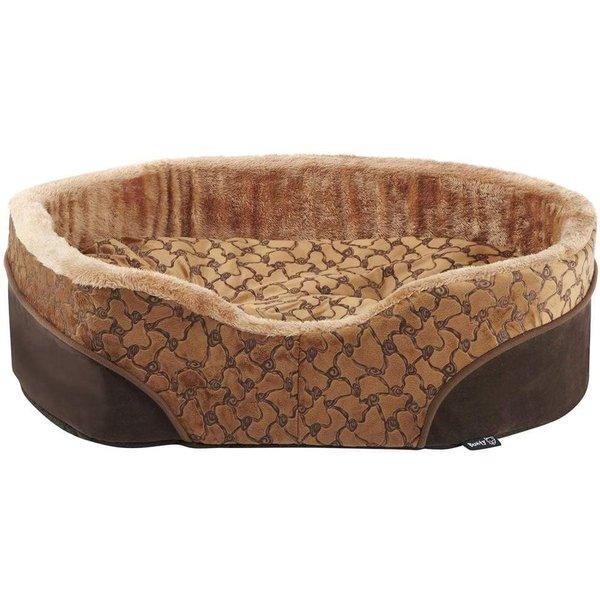 Bunty Mocha Dog Bed Soft Washable Fleece Brown/Medium