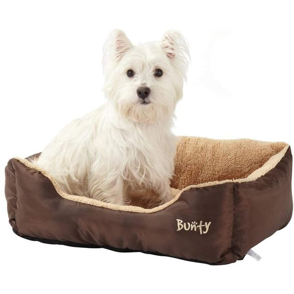 Deluxe Soft Washable Dog Pet Bed Brown/Medium