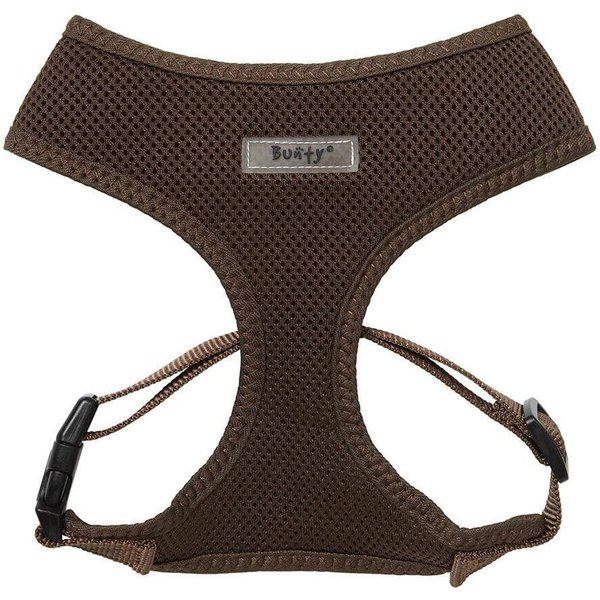 Soft Mesh Fabric Dog Adjustable Harness Brown/Small