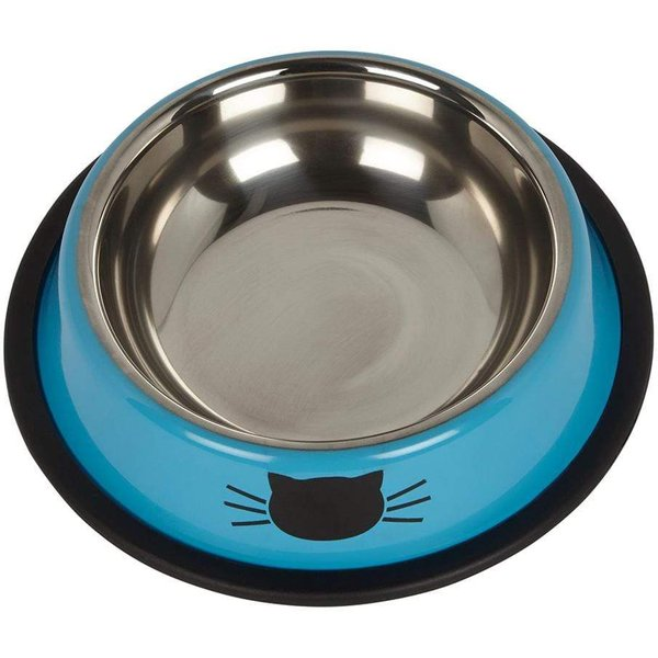 Bunty Stainless Steel Cat Bowl Blue
