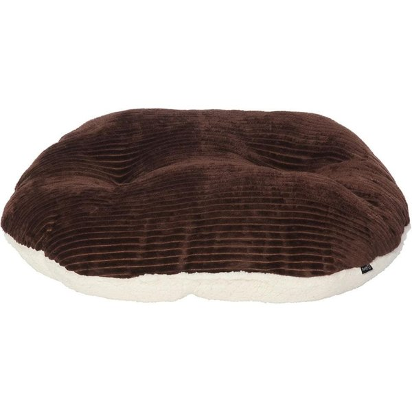 Chester Oval Fleece Dog Bed Brown/Small