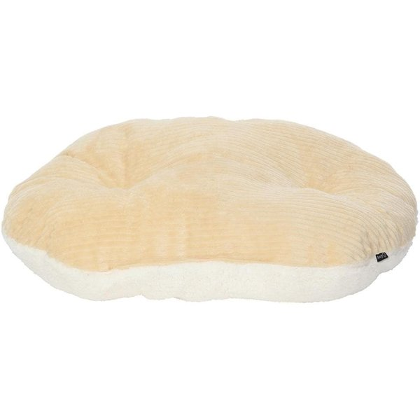 Chester Oval Fleece Dog Bed Cream/Small