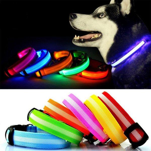 Bunty LED Dog Collar Green/Large