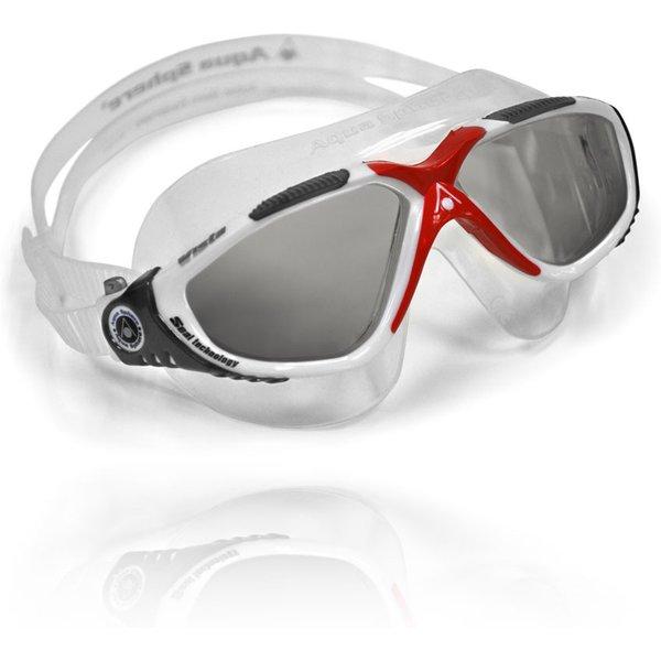 Aqua sphere vista lunettes de natation blanc rouge