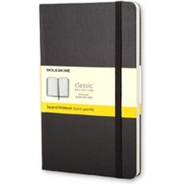 Moleskine Large Squared Hardcover Notebook Black