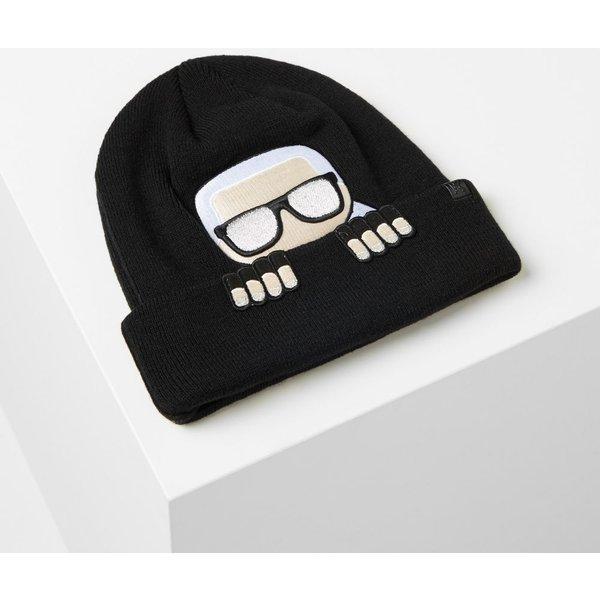 Karl Lagerfeld - K/Ikonik Wool Blend Beanie Hat - 1
