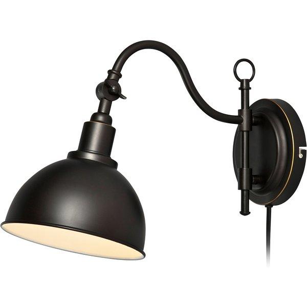 Applique orientable en métal noir longueur 42cm Ekelund noir