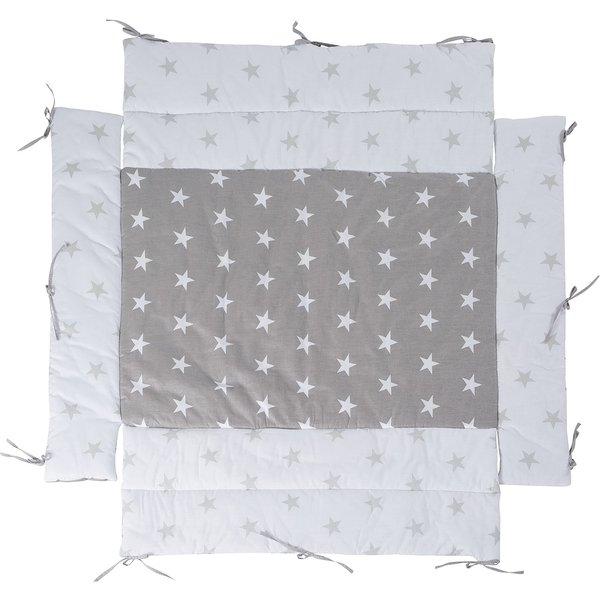 Roba® Laufgittereinlage little Star grau, 75 x 100 cm und 100 x 10