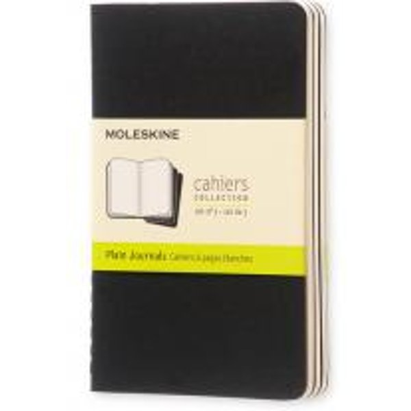 Moleskine Plain Cahier - Black Cover (3 Set)