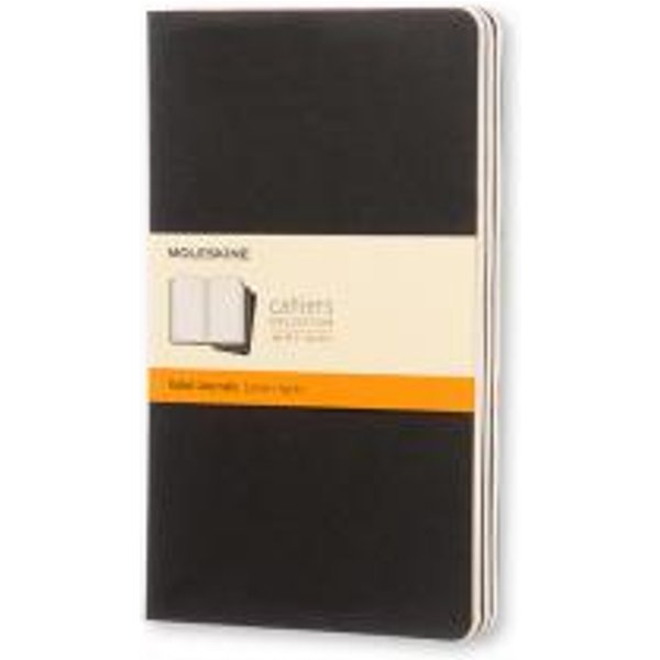 Moleskine Ruled Cahier L - Black Cover (3 Set)