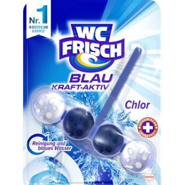 WC-FRISCH Kraft Activ Blauspüler Chlor, 10 x 50 g