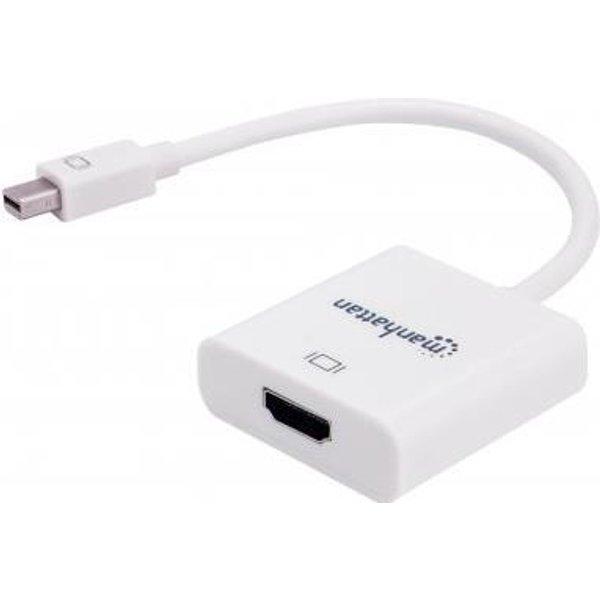 Manhattan Mini-DisplayPort Adapter [1x Mini-DisplayPort Stecker - 1x HDMI-Buchse] Weiß 15.00cm