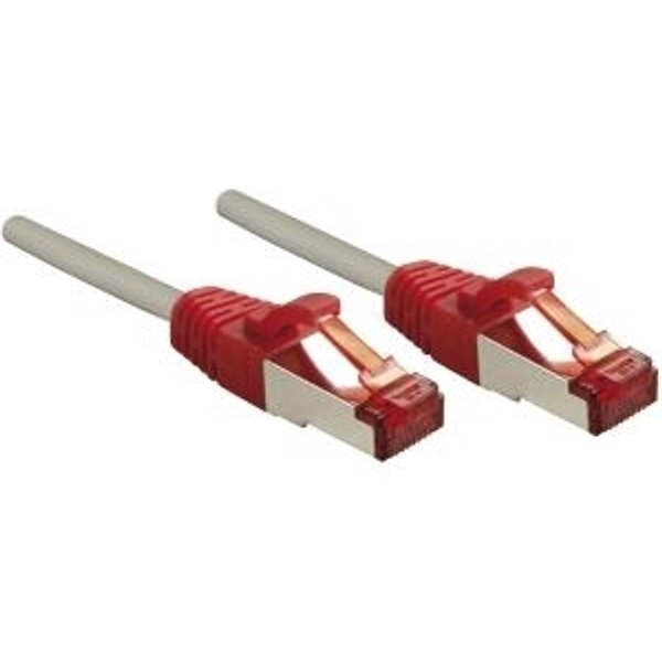 Câble croisé LINDY 50cm, gris (47836)