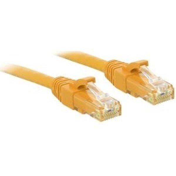 Câble réseau patch CAT.6 U/UTP, jaune, 0,3m (48060)