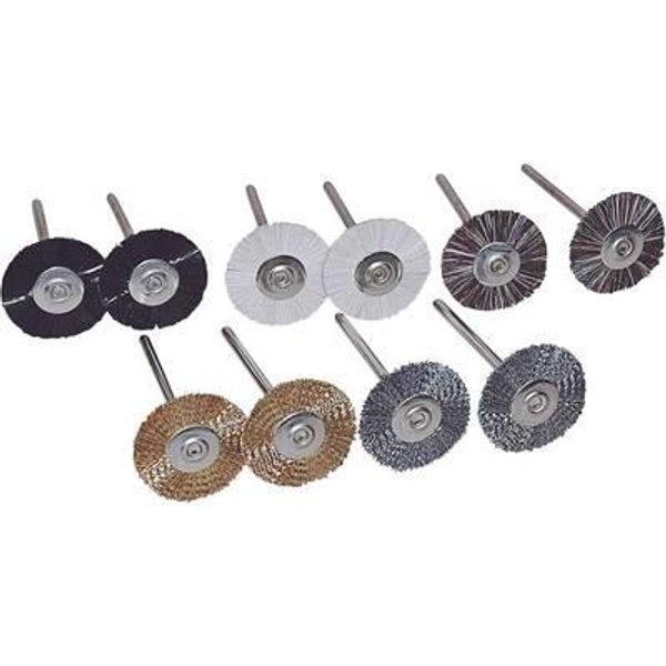 Set de brosses rondes, 10pcs. C98352 - TOOLCRAFT