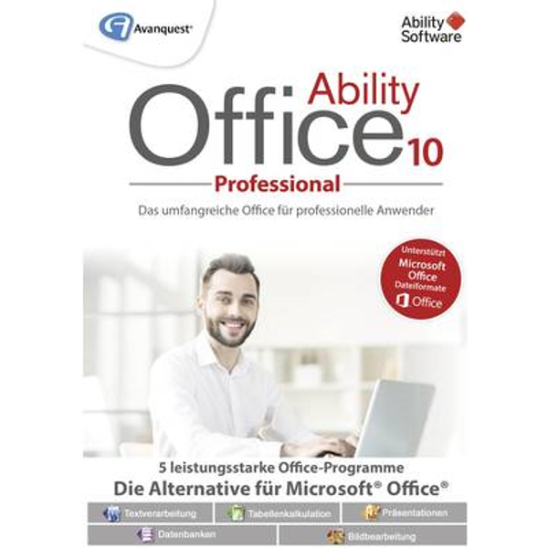 Avanquest Ability Office 10 Professional version complète, 1 licence Windows Pack Office