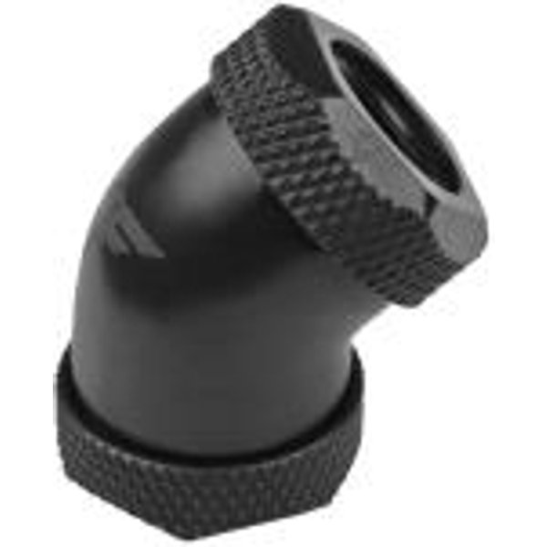 Nanoxia Coolforce Fitting - Hard Tube Adapter 45 Grad 2x 12mm schwarz