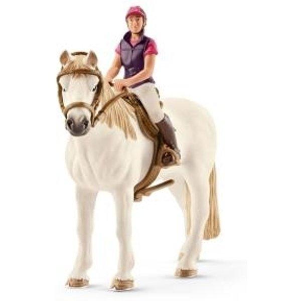 Schleich Paarden - Amateur Ruiter Met Paard 42359