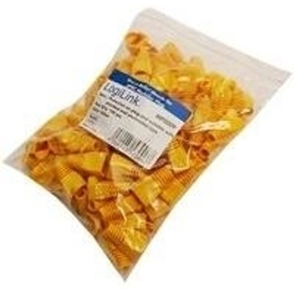 Passe-câble anti-pliage RJ45 LogiLink MP0009 RJ45 jaune 100 pc(s)
