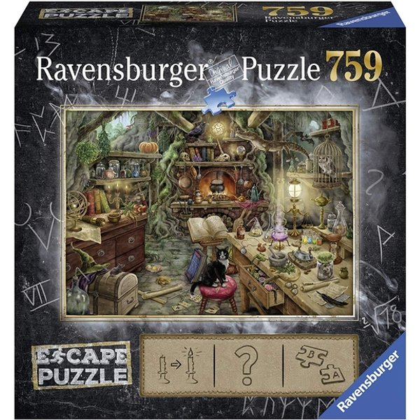 Ravensburger Escape Puzzle – Witch's Kitchen 759 Piece Mystery Jigsaw Puzzle